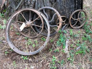 Metal Yard art Wheels