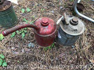 Two Metal Gas Cans