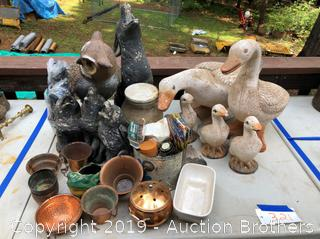 Yard Animals and Pots