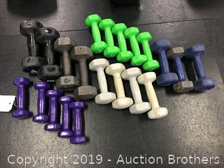 Assorted size weights
