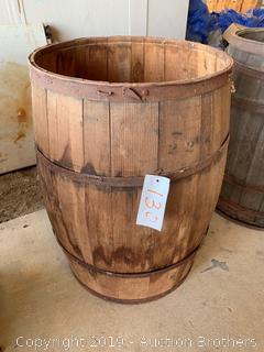 Wood Distillery Barrel