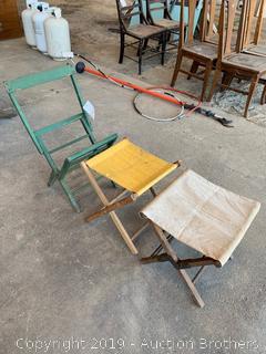 Three Antique stools
