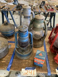 Antique PG & E Lantern and more