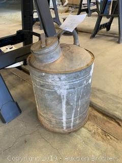 Antique Galvanized Can