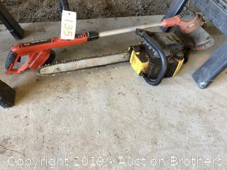 Weed Eater And Chain Saw